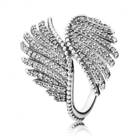 Pandora Sortija plata Plumas Majestuosas 190960CZ