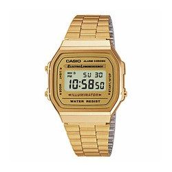 Reloj Casio retro digital dorado luminiscente A168WG-9EF