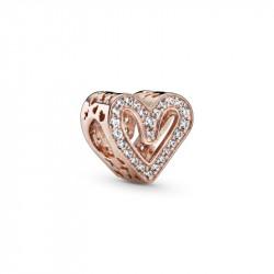 Charm Pandora Rose en Filigrana Corazón Brillante 788692C01
