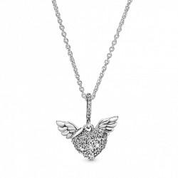Pandora Collar plata Corazón Alas 398505C01
