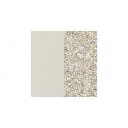 Les Georgette Cuero Reversible Crema / Glitter Oro 14mm 702145899C4000