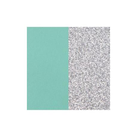 Les Georgette Cuero Reversible Verde Agua / Glitter Plata 8mm 703215299CX000
