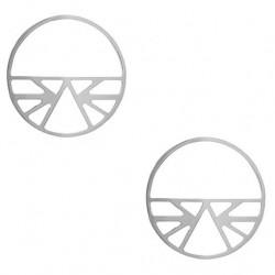 Les Georgettes Pendientes Ibiza Plateado 43mm 70318871600000