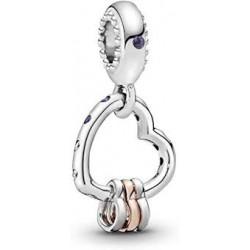 Pandora Charm plata Colgante Corazón 787247NLCMX
