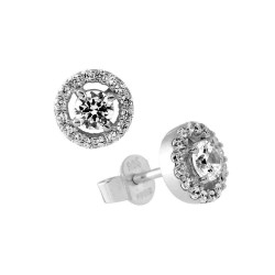 Diamonfire pendientes rosetón en plata 6216951582