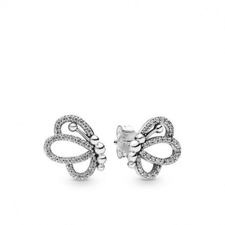Pandora Pendientes en plata de ley Silueta de Mariposas 297912CZ