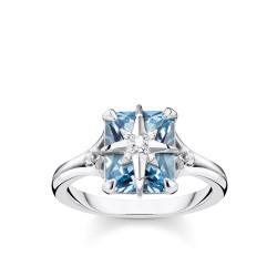 THOMAS SABO Anillo Piedra Azul con Estrella TR2288-644-1