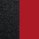 Les Georgette Vinilo Sortija 12MM Negro Glitter / Rojo Soft 703018584CG000