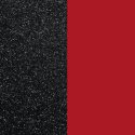 Les Georgette Cuero Sortija 12MM Negro Glitter / Rojo Soft 703018584CG000