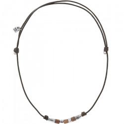 UNO de 50 Collar de cuero con cuentas 'Proof' COL1196MARMTL0U