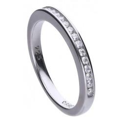 Diamonfire Anillo Memory eternidad de plata con 16 circonitas de 1,5 mm 6117921082
