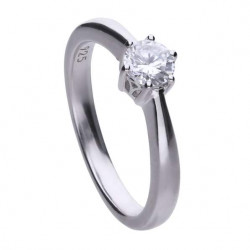 Diamonfire Anillo Classic solitario engastado en garra - 5 mm 6114851082