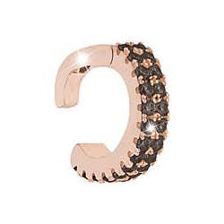REBECCA Pendiente plata bañado en oro rosa Eart circonitas negras SGEORN01
