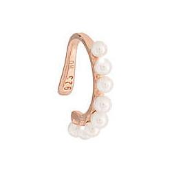REBECCA Pendiente plata bañado en oro rosa Golden Ear Cuff perlas SGEORB03