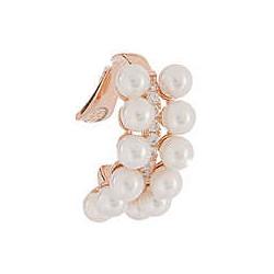 REBECCA Pendiente plata bañado en oro rosa Ear Cuff perlas y circonitas SGEORB12