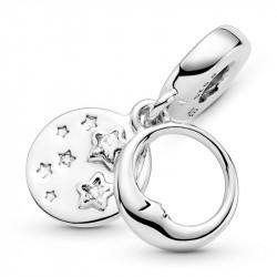 Pandora Charm Colgante en plata de ley Luna Durmiente y Estrellas 799242C01