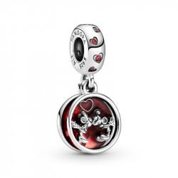 Pandora Charm Colgante en plata de ley Amor y Besos Mickey Mouse y Minnie Mouse de Disney 799298C01