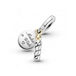 Pandora Charm colgante en plata de ley Vela Cumpleaños 799328C00