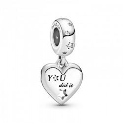 Pandora Charm plata Colgante Felicitaciones Corazón y Estrellas 799323C01
