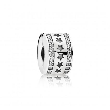 Pandora Charm en plata Clip Fila de Estrellas 796381CZ