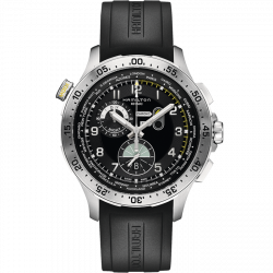 Reloj Hamilton Khaki Aviation Worldtimer Chrono Quartz H76714335