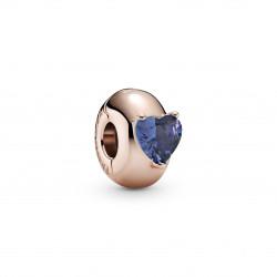 Pandora Clip en rose Corazón Solitario Azul 789203C02