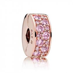 Pandora Charm de Clip Pavé Rosa 781817PCZ